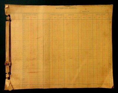 1946 STOLTZFUS DISTRIB JOURNAL accounting DESOTO CARS coatesville pa ACCOUNTING