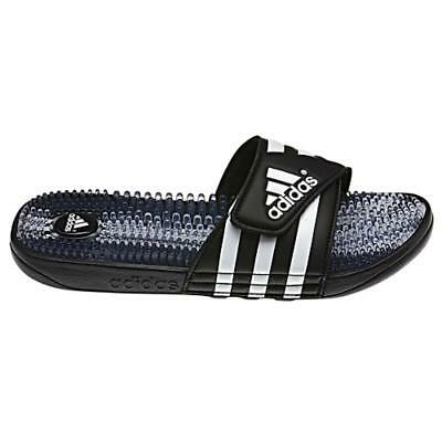 Adidas Santiossage Slides - Black/White - Youth Sizes