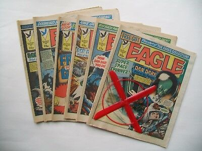 """Eagle"" comics 6 issues 1983. 1 with free gift."