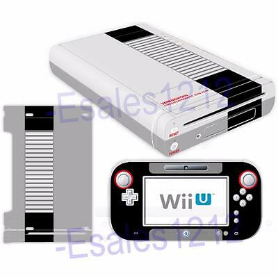 NES Retro Vinyl Skin Decal Stickers Covers for Nintendo Wii U Console Controller