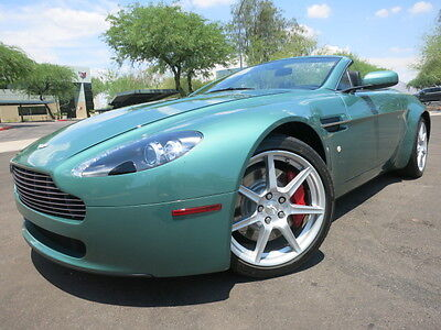 2008 Aston Martin Vantage Convertible Roadster Automatic Navigation Heated Seats Rare Almond Green 2006 2007 2009