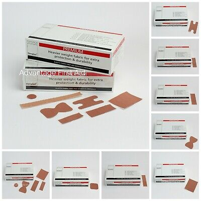 Premium Elastic Fabric First Aid Plasters. Adhesive Wound / Sticking Plaster.