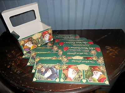 Five Old World Christmas 6 inch Christmas Ornament Gift Boxes