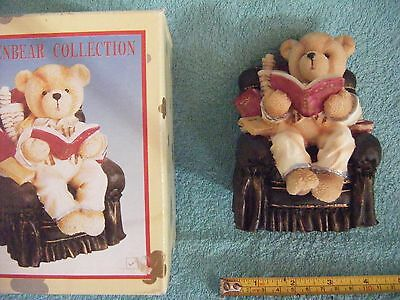 Resin money box Teddy in Armchair from the Golden Bear Collection