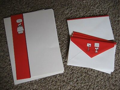 Snoopy Stationary, 6 Decorated Sheets, 5 Plain Sheets, 6 Envelopes - LOOSE