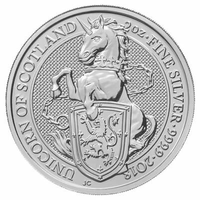 2018 Queen's Beast Unicorn 2 oz Silver Coin | Now Shipping!