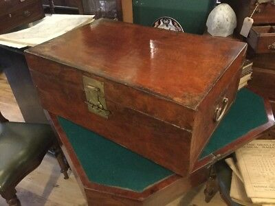 Antique Chinese Leather And Parchment Trunk