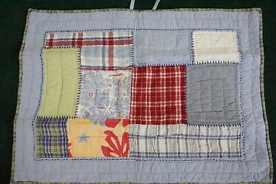 POTTERY BARN KIDS ~ STANDARD PILLOW SHAM Quilted Chambray Madras