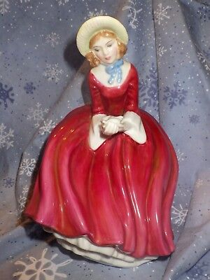 ROYAL DOULTON  Figurine Denise HN 2273 by Peggy Davies Tiny chip on Doves Wing