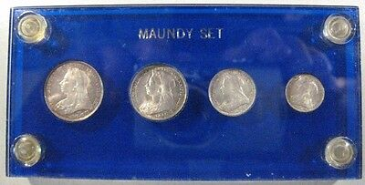 1897 Great Britain 4 Piece Maundy Coin Set Nice Grades  ** FREE U.S. SHIPPING **