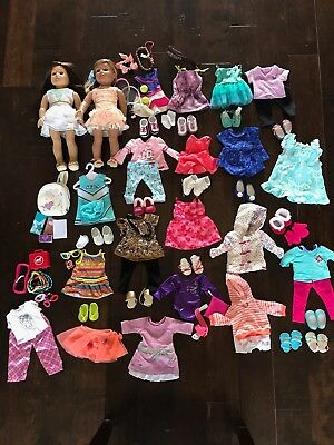 American Girl Lea Doll Of Year Plus Just Like Me Doll And An Entire Wardrobe EUC