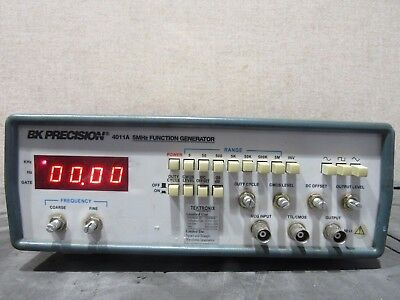 BK Precision 4011A 5MHz Bench top Function Generator  Power Tested