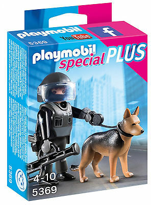 Playmobil 5369 Special Plus Tactical Police Dog New Kids  City Action Toy Set