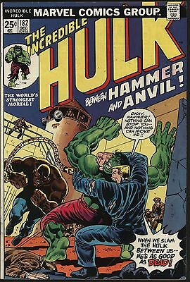INCREDIBLE HULK #182  2nd APPEARANCE OF WOLVERINE! GLOSSY COVER NICE PAGES
