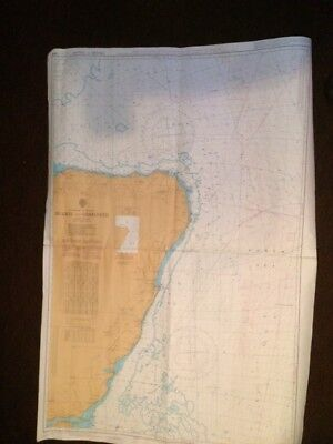 OLD Admiralty Chart , No. 1409, SCOTLAND, BUCKIE TO ARBROATH WITH DECCA