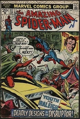 Amazing Spider-Man #117 Vs The Disruptor. Reading Copy Going Cheap!