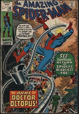 Amazing Spider-Man #88  A Solid Reading Copy Going Cheap! Doctor Octopus!