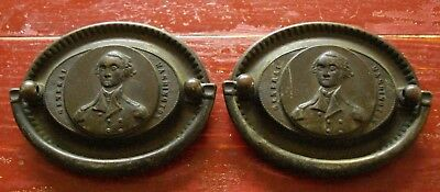 George Washington Antique Brass Drawer Pulls PAIR