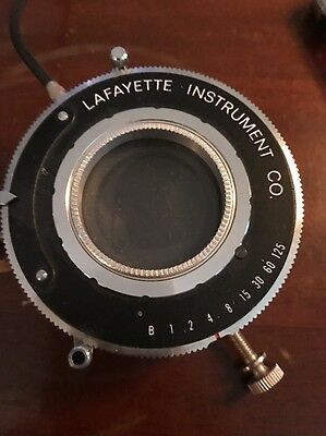 Lafayette Instrument CO Model 43015 Vintage Shutter Lens with Prontor Cable.