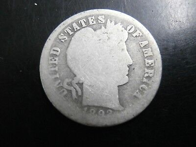 1892-S Barber Dime, Key Date, United States Coin!