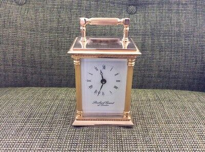 Robert Grant London  Brass Carriage Clock Excellent Heavy Working Order