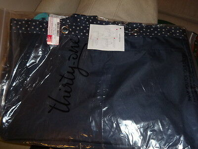 THIRTYONE Thirty One 31 Gifts Soft Utility Tote BRAND NEW - Navy Dancing Dot