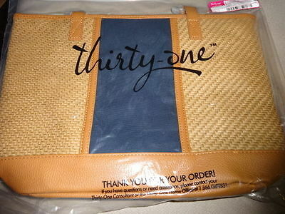 THIRTYONE Thirty One 31 Gifts Little Dreamer Tote BRAND NEW Natural Straw