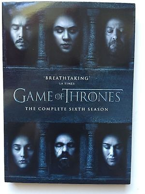 Game Of Thrones Season 6 Dvd, New And Sealed,region 2