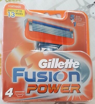 Gillette Fusion Power Blades - Pack of 4 - BRAND NEW