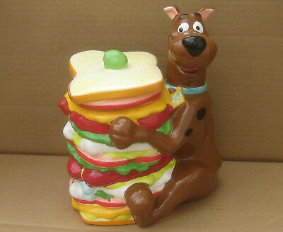 """Scooby Doo Sandwich Cookie Jar - Vintage, Perfect Condition, 9 3/4"""" Height"""
