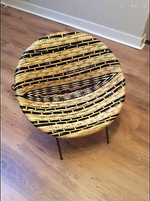childs vintage basket chair from 1950/60's