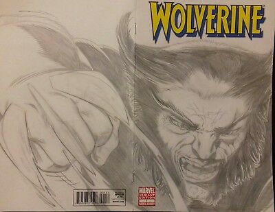 Wolverine #1 (2010) pencil sketch variant wraparound cover ***FREE UK POSTAGE***