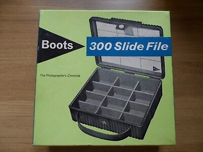 Boxed Boots 300 35mm Slide File with Genuine 23 Carat GOLD FOIL