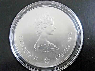 1974 Canada .925 Sterling Silver $5 Montreal 1976 Olympic Games Coin