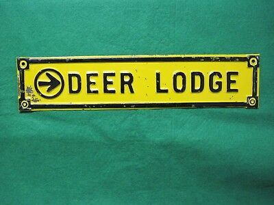 Vintage Montana, Deer Lodge Arrow Sign, Possibly Prison Made, Nice Condition