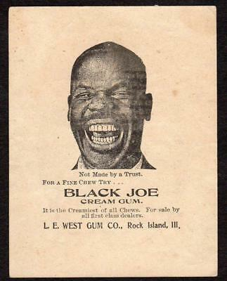1899 Galesburg Illinois Street Fair*black Joe Cream Chewing Gum*rock Island Ill.