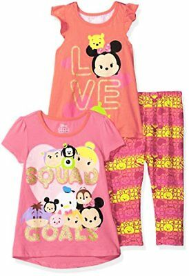 Disney Girls' 3 Piece Tsum Legging Set - Choose SZ/Color