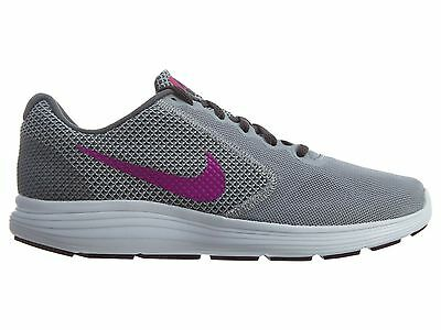 Nike Revolution 3 Womens 819303-009 Grey Fire Pink Mesh Running Shoes Size 8.5