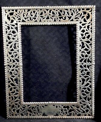 Vintage --  Antique heavy Filigree Howard & co STERLING SILVER PICTURE FRAME