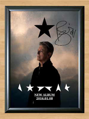 David Bowie Blackstar Ziggy Signed Autographed A4 Photo Poster Memorabilia cd