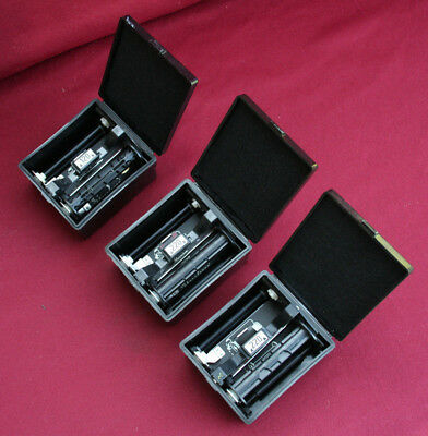 Lot of 3 Mamiya Film Holders and cases 1 - 120 and 2 - 220s Medium Format