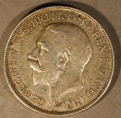 1912 Great Britain Silver Florin Great Details          ** FREE U.S. SHIPPING **