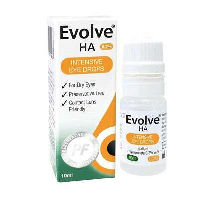 Evolve HA intensive eye drops for Dry Eyes sodium hyaluronate Preservative Free