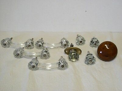 Vintage Glass Drawer Pulls & Knobs Lot