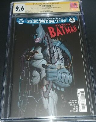All-Star Batman #1 CGC SS 9.6 signed by Scott Snyder, JRJR, Shalvey, & Bellaire