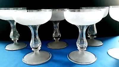 Stunning Antique Hollow Stem Champagne Glasses