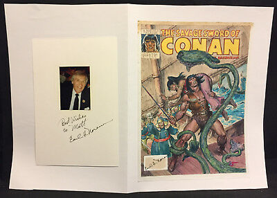 Savage Sword of Conan #190 Cover Color Prelim - 1991 Signed art by Earl Norem