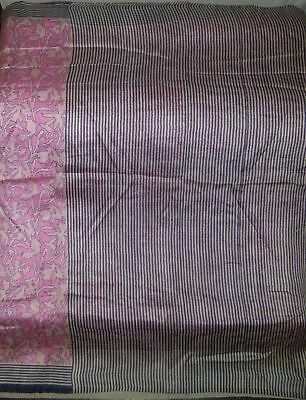 Gorgeous-Color-Vintage-Fabric-5-Yard-Pure-Silk-Sari-Saree-India