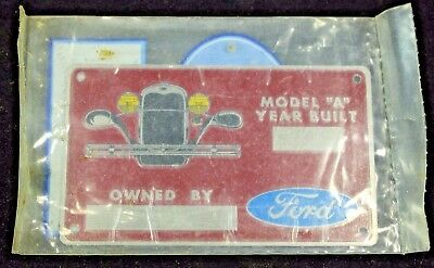 Model A Ford Owners Plate  A-18650-OP 1928-1931
