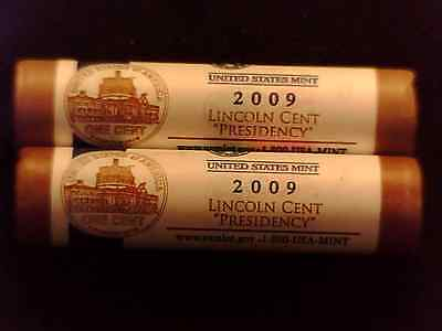 2009 Lincoln cent Presidency P &D 1 direct from mint roll each